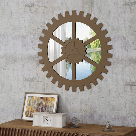 Industrial Gear Wall Mirror - NH835403