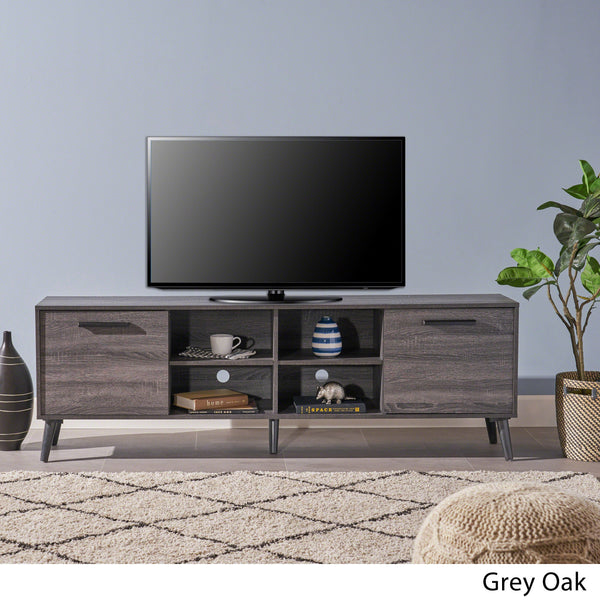 Mid Century Modern 2 Cabinets & Shelves TV Stand - NH604403