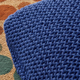 Modern Knitted Cotton Square Floor Cushion with Filling - NH598503