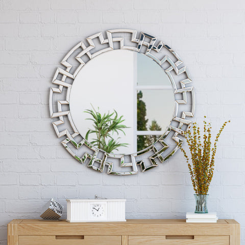 Glam Circular Wall Mirror - NH422503