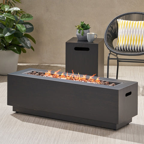 Outdoor Rectangular Fire Pit with Tank Holder - NH071113
