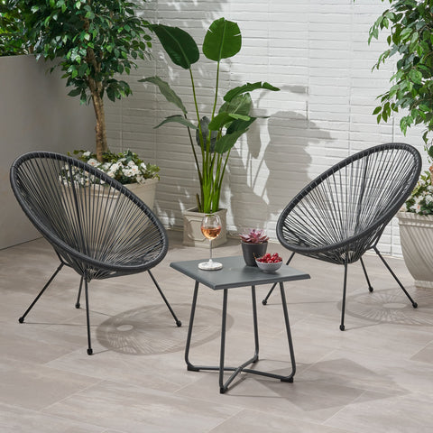 Outdoor Woven 3 Piece Chat Set - NH094903