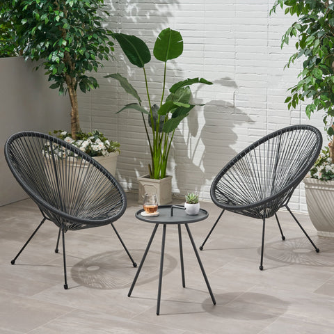 Outdoor Woven 3 Piece Chat Set - NH884903