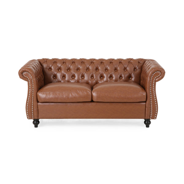 Traditional Chesterfield Loveseat - NH762313