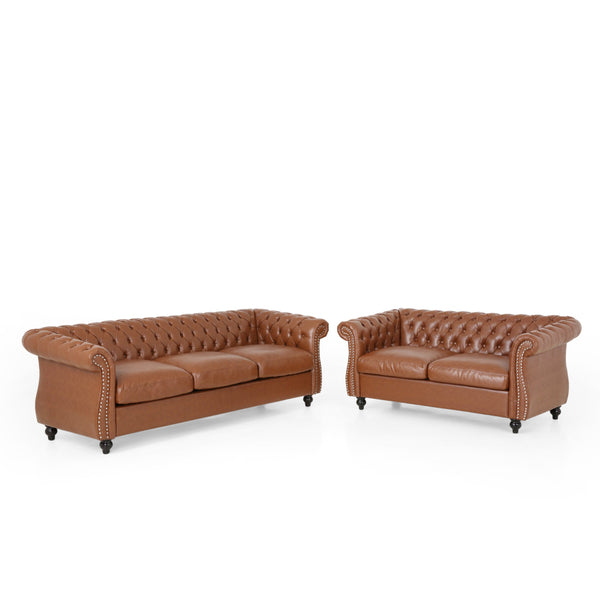 Traditional Chesterfield 2 Piece Living Room Set - NH272313