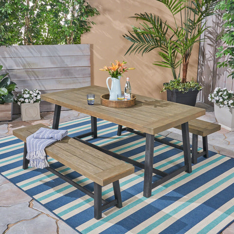 Outdoor Acacia Wood Picnic Set - NH360603