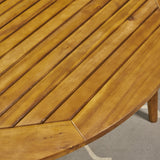 Outdoor Acacia Wood Round Dining Table - NH451503