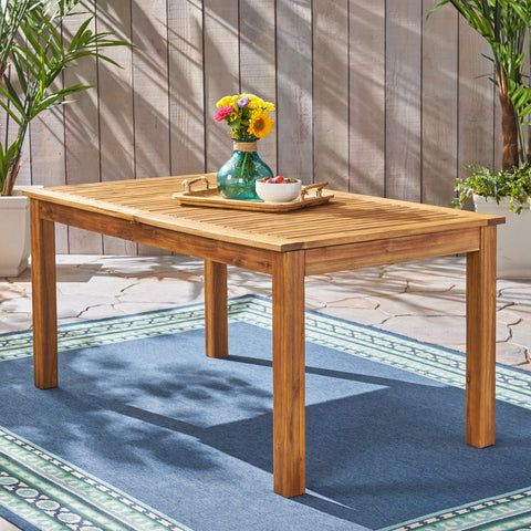 Outdoor Expandable Acacia Wood Dining Table - NH653503