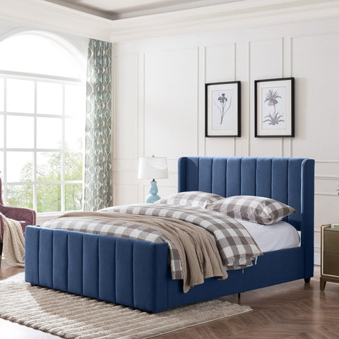 Fully Upholstered Queen Size Bed Frame - NH589603