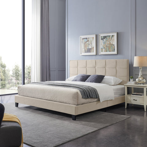 Upholstered King Bed Platform - NH421113