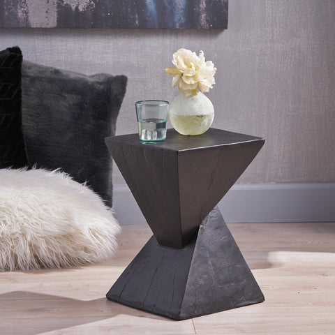 Modern Abstract Hourglass Lightweight Concrete Accent Table - NH628503