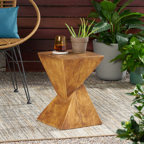 Outdoor Light-Weight Concrete Accent  Table - NH138503