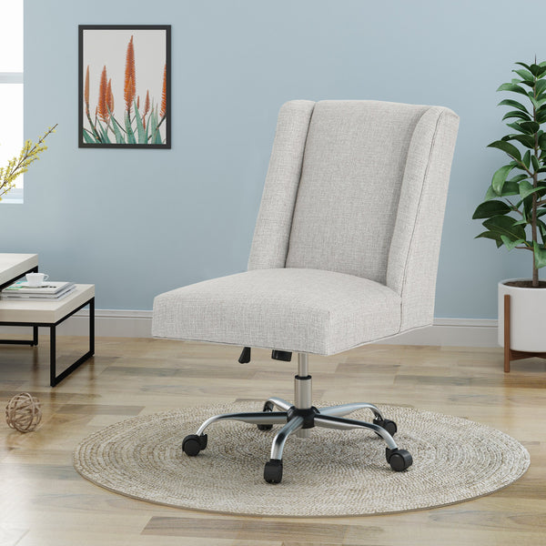 Adjustable Seat Height Home Office Chair W Casters Nh910603 Noble House Furniture