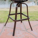 30-Inch Outdoor Cast Aluminum Swivel Bar Stools (Set of 2) - NH422832