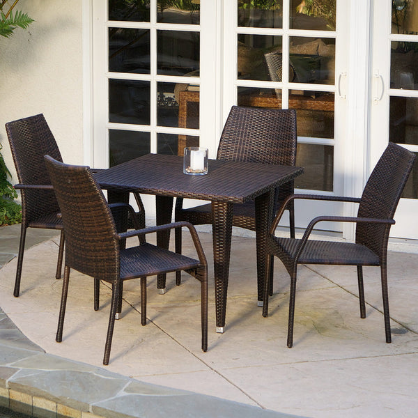 5 Piece Outdoor Wicker Dining Set - NH291832