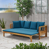 Outdoor Extendable Acacia Wood Daybed Sofa - NH518903