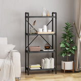 Industrial Pipe Design 4-Shelf Etagere Bookcase - NH802903