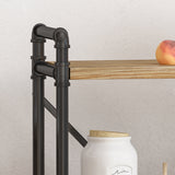 Industrial Pipe Design 3-Shelf Etagere Bookcase - NH012903