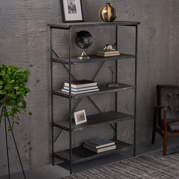 Industrial Design 4-Shelf Etagere Bookcase - NH532903