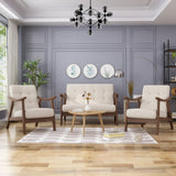 Mid-Century Modern 3-Piece Chairs & Love Seat Living Room Set - NH684503