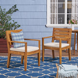 Outdoor Acacia Wood Dining Chairs - NH654603