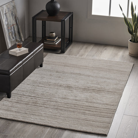 Transitional Wool Area Rug - NH346803