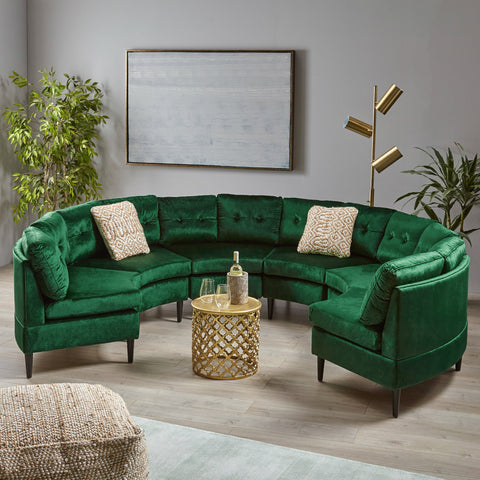 Glam Velvet Modular 6 Seater Sectional - NH031803