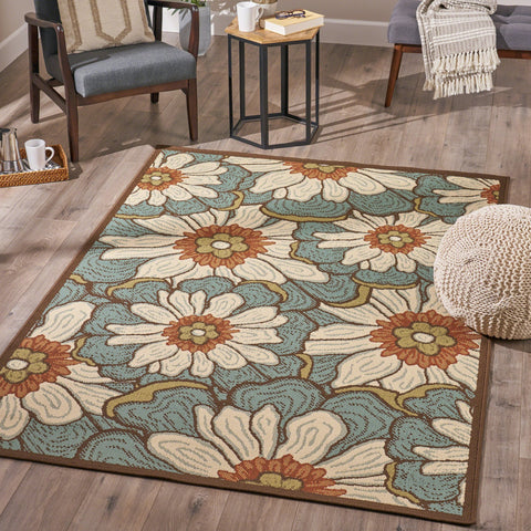 Indoor Floral  Area Rug - NH016503