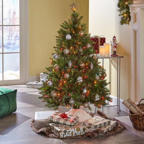 4.5-foot Noble Fir Hinged Artificial Christmas Tree - NH723703