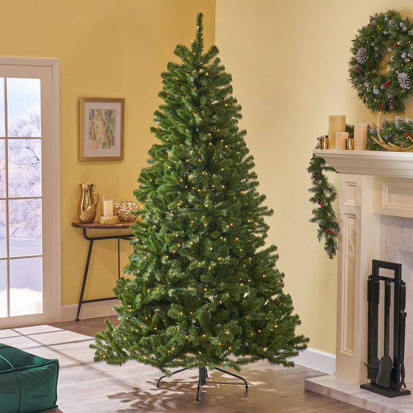 9-foot Noble Fir Hinged Artificial Christmas Tree - NH423703