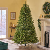 7.5-foot Mixed Spruce Hinged Artificial Christmas Tree - NH792703