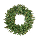 24-Inch Norway Spruce Pre-Lit Warm White LED Artificial Christmas Wreath - NH204703