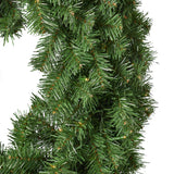 "24"" Noble Fir Warm White LED Artificial Christmas Wreath - NH304703"