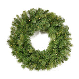 "24"" Mixed Spruce Warm White LED Artificial Christmas Wreath - NH404703"