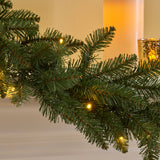 9-foot Norway Spruce Pre-Lit Warm White LED Artificial Christmas Garland - NH004703