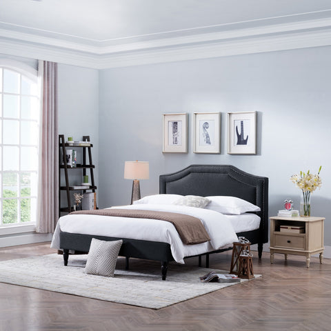MacArthur Fabric Upholstered Queen Sized Bed Set - NH101803