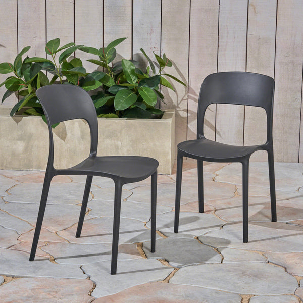 Outdoor Plastic Chairs (Set of 2) - NH615603