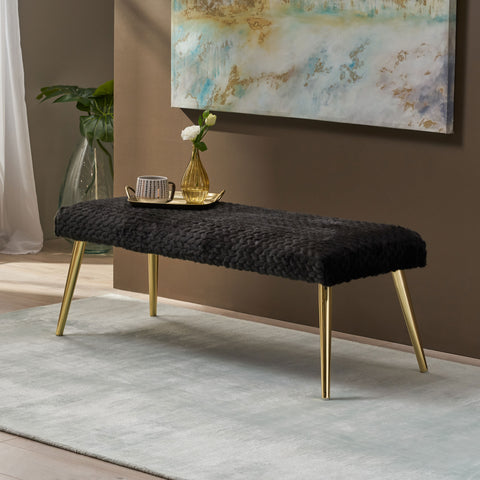 Patterned Faux Fur Bench - NH812903
