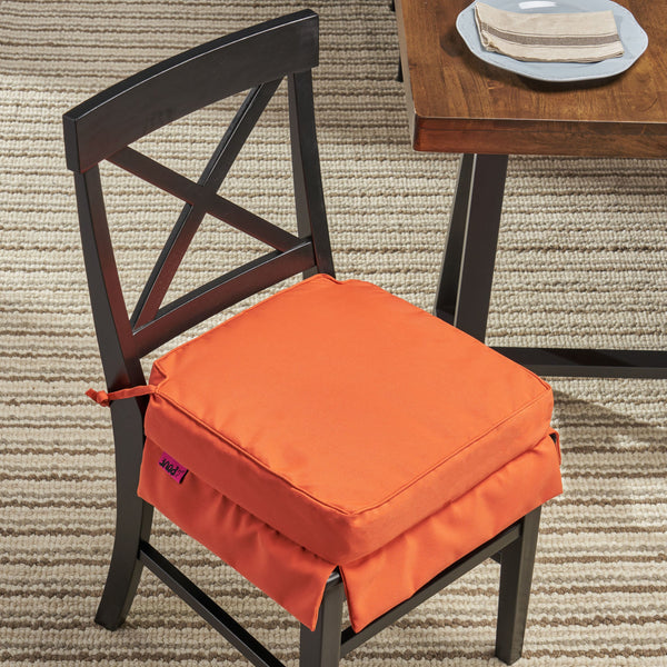 Indoor Fabric Classic Skirted Chair Cushion Pad - NH450013