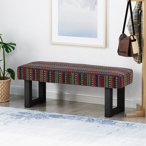 Boho Fabric Bench - NH673013