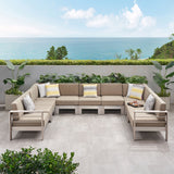 Outdoor 11 Seater Aluminum U-Shaped Sofa Sectional - NH268903