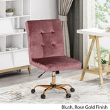 Glam Tufted Home Office Chair with Swivel Base - NH281903
