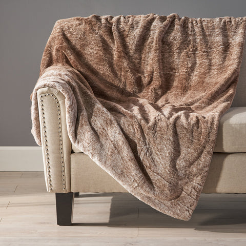 Glam Fuzzy Fabric Throw Blanket - NH504903
