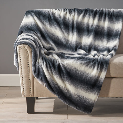 Glam Fuzzy Fabric Throw Blanket - NH404903