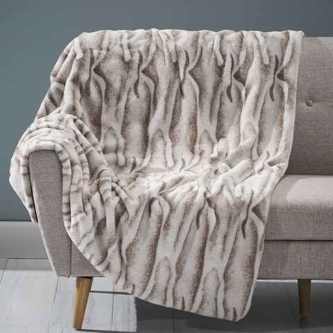 Glam Fuzzy Fabric Throw Blanket - NH804903