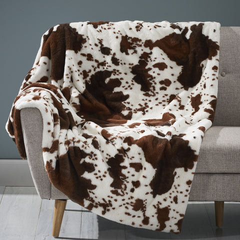 Glam Fuzzy Fabric Throw Blanket - NH704903