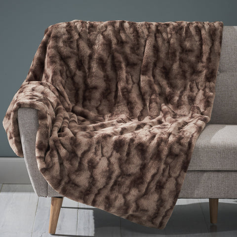 Glam Fuzzy Fabric Throw Blanket - NH604903