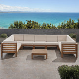 Outdoor 9 Seater Acacia Wood Sectional Sofa Set - NH484803