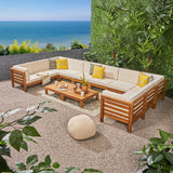 Outdoor U-Shaped Sectional Sofa Set with Coffee Tables - NH111703