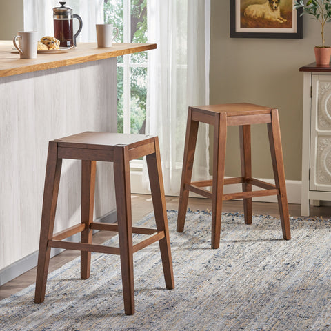 "26"" Wooden Counter Stool (Set of 2) - NH681903"